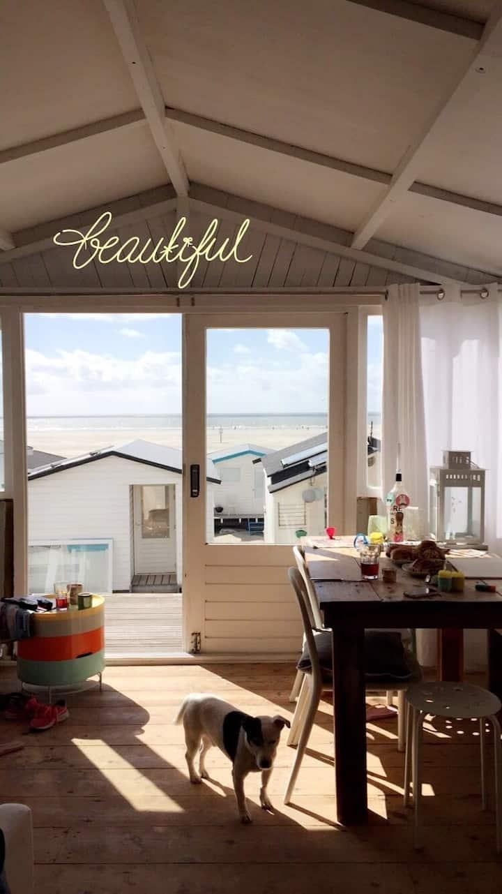 Strandhuis Tinyhouse Beachhouse aan zee