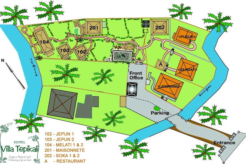 Site plan of our houses and rooms