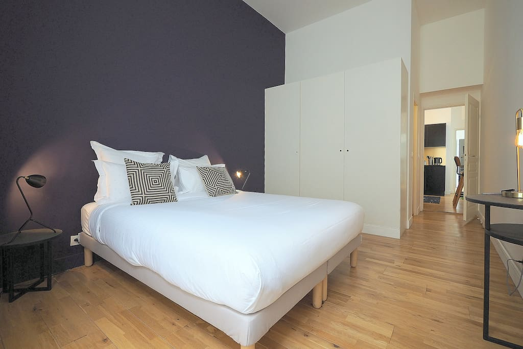 Rear bedroom with comfortable double bed.