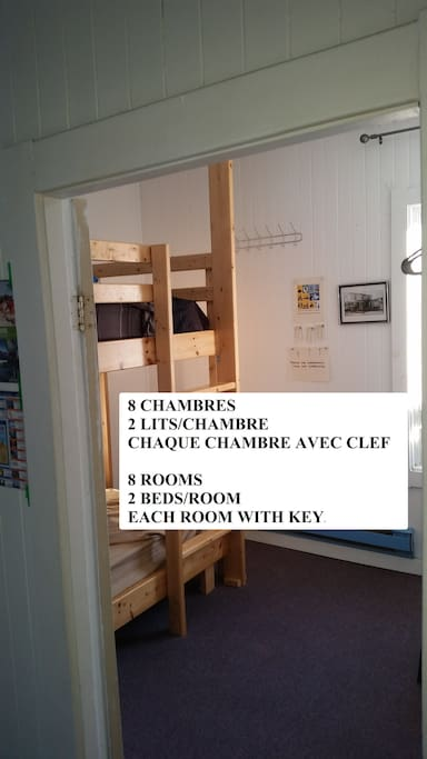 2 LITS /CHAMBRE 2 BEDS/ROOM