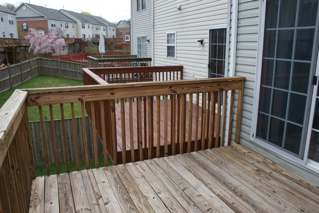 deck off of kitchen