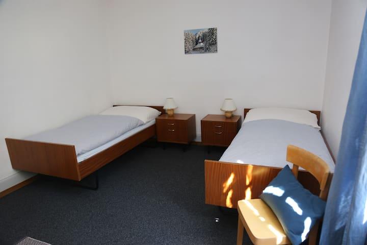 Schlafzimmer 2 (zusammenschiebbar)