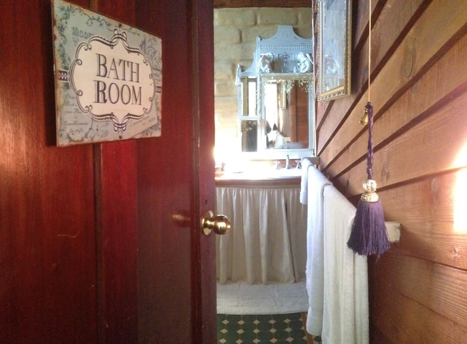 Our gorgeous rustic bathroom