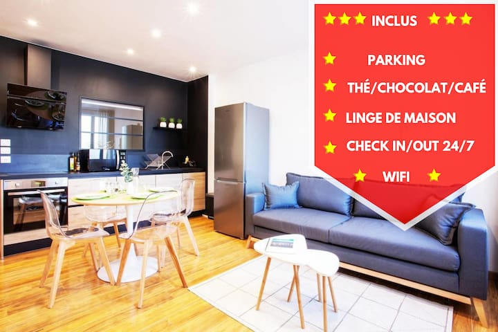 ★LEGEND ★ Parking ★ Wifi ★ 24/7 ★proximité centre