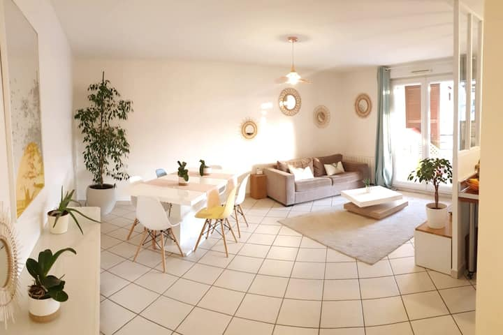 Appartement Lumineux - 5/6 pers - Lyon/Oullins