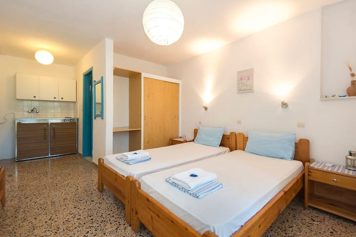 studio-2 single beds - Ialysos - Daire