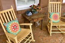 Enjoy the front porch when the weather is nice, which is most of the time here!