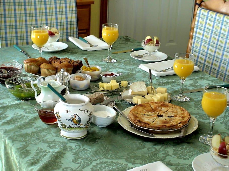 Petit-déjeuner compris, différent à chaque jour.