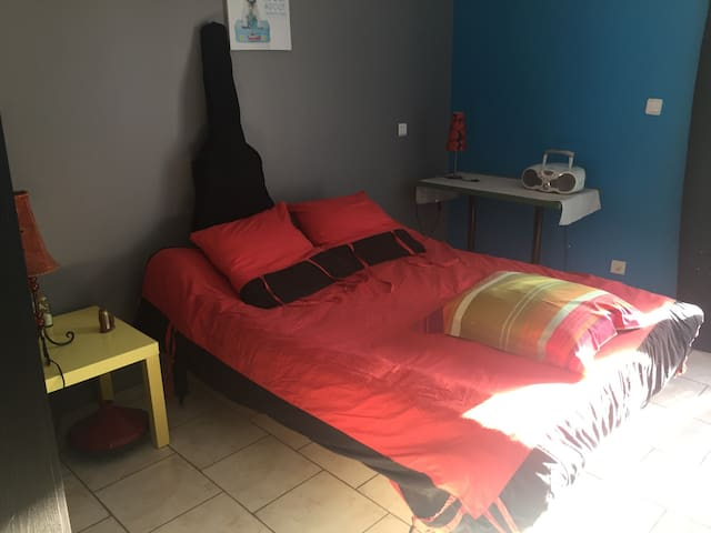 Chambre individuelle cocooning - Ibos - Rumah