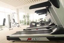 gym on floor 5 (membership included in room rate)