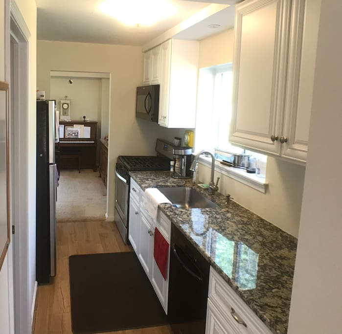 Newly remodeled kitchen with everything you need...plus granite counters.