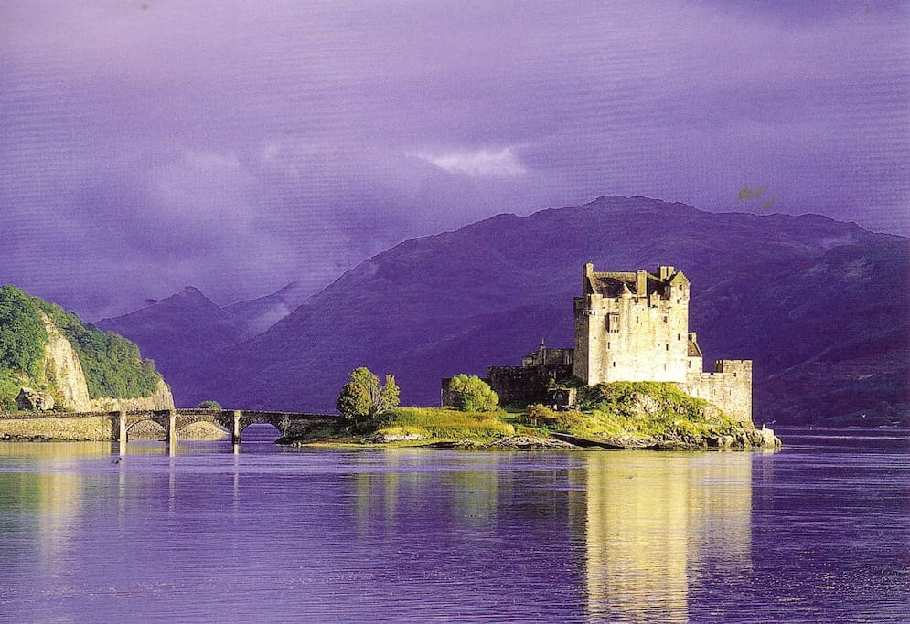 Beautiful Eilean Donan castle 500 metres away