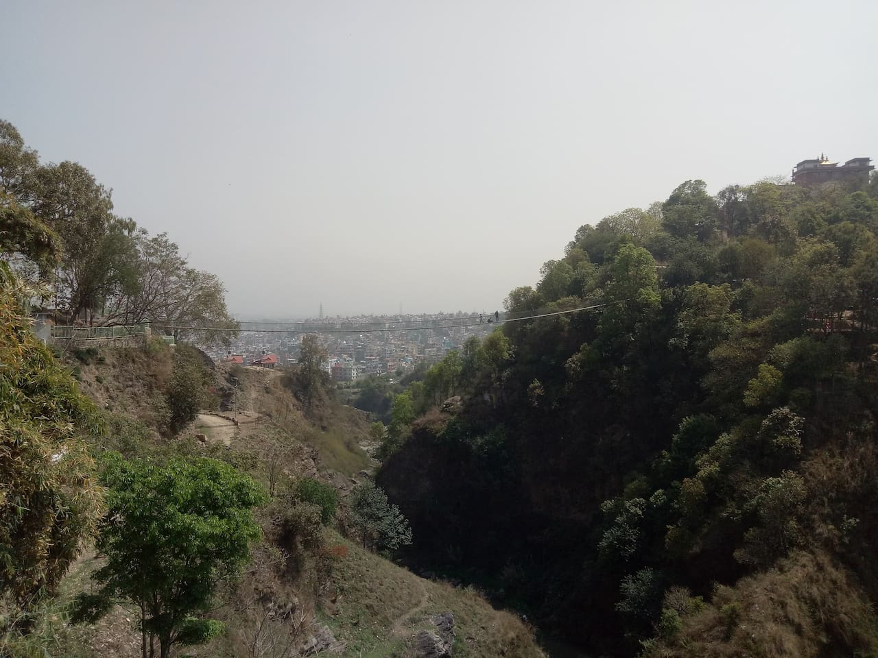 Panoromic view from terrace