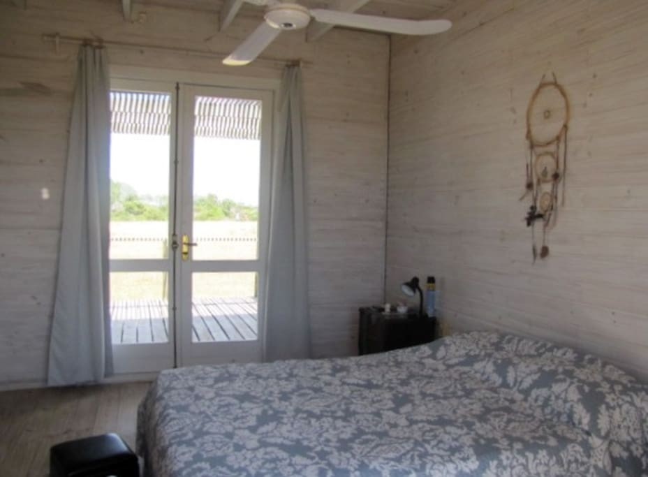 Master suite  (room and  with Queen bed for two , with bathroom. Deck and country view.