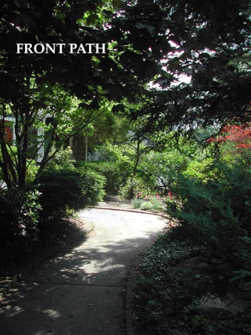 Front path to house