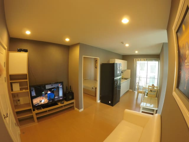 2 bed room and living room, Wifi - Bueng Kum - Apartmen