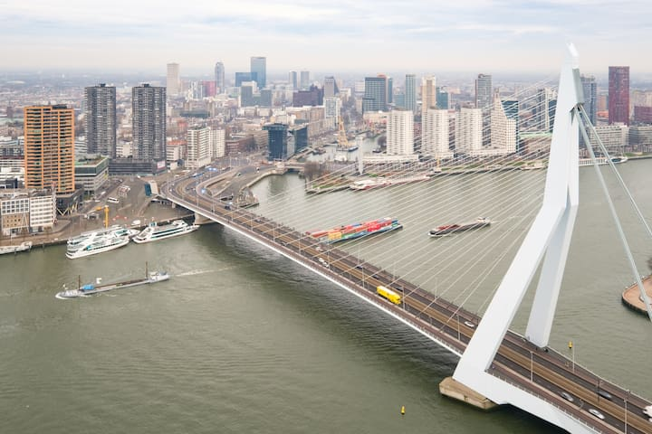 Best Rotterdam overview apartment nearby ESF 2020