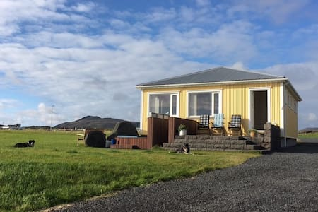 House next the sea in Iceland