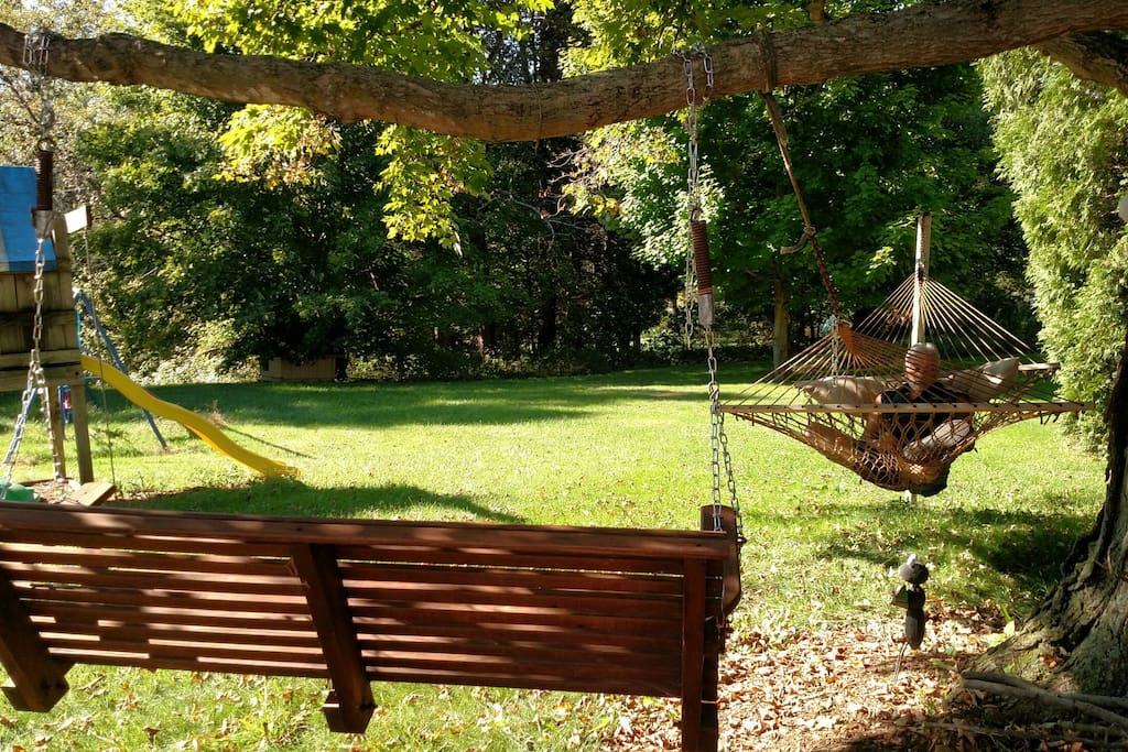 Hammock and swing for your enjoyment and relaxation