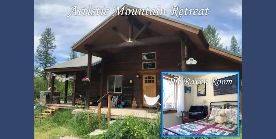 Artistic Mountain Retreat - Raven Room