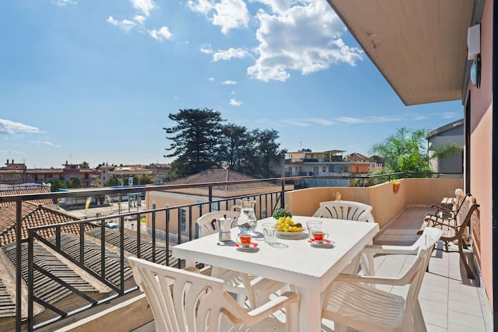 Wonderful Apartment in Mascali with Terrace