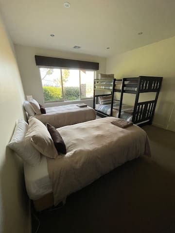 Bedroom 4 - 2 King Single beds, can be combined to a King Size Bed.  1 King Single Bunk Bed