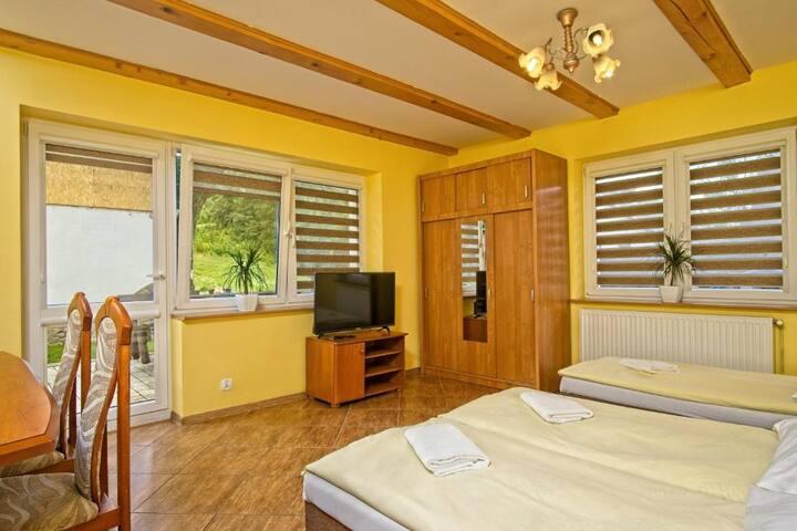 Domek Wojków - apartament z tarasem