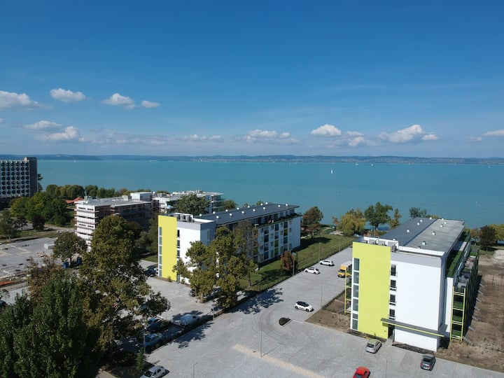 Siófun studio with Balaton view