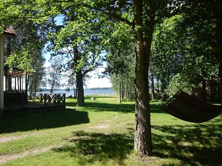 Beautiful Villa on the lake. Own beach and sauna!