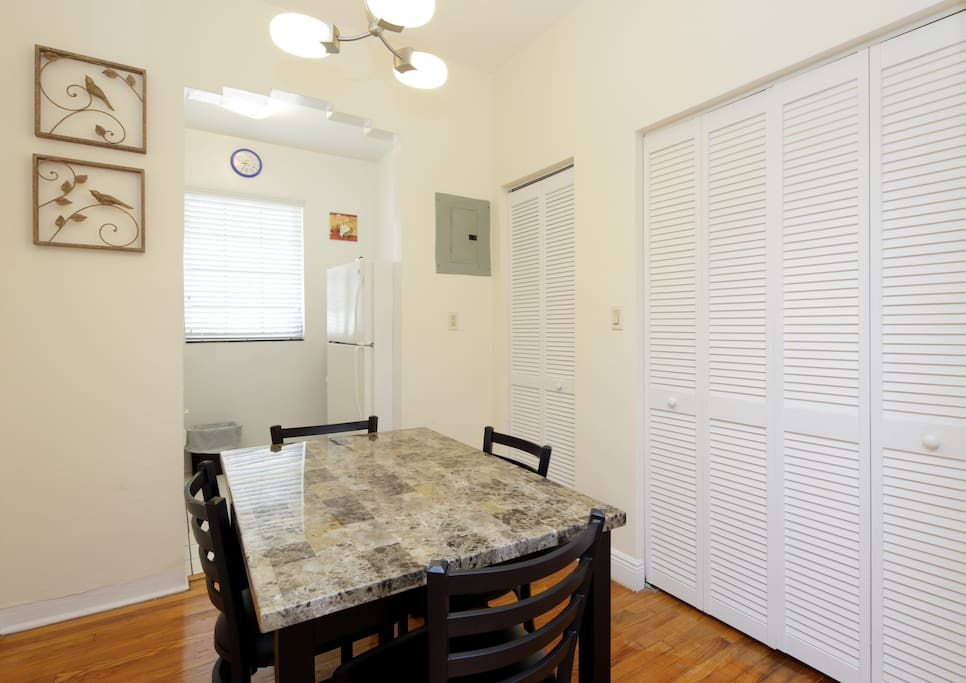 Dining room in one bedroom