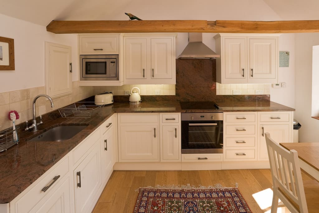 Well equipped kitchen in the open plan living area