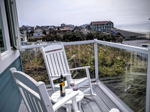Rock the afternoon away, enjoying your vino and the ocean view.