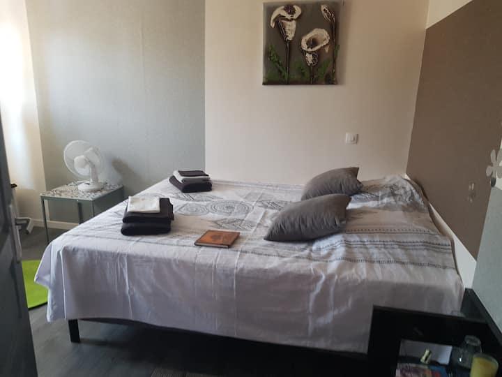 Chambre privé dans maison zen