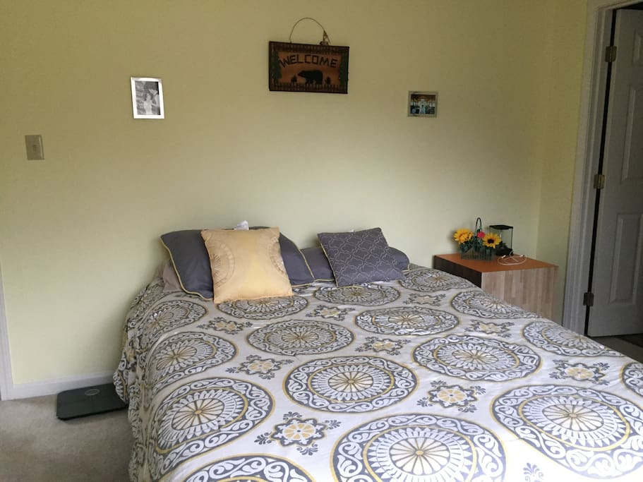 Private bedroom with full bath attached