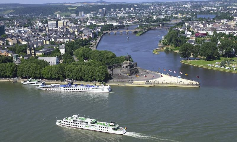 For Those Who Miss The City Life ?... The Deutsches Eke in Koblenz Where The Rhine & Moselle Meet