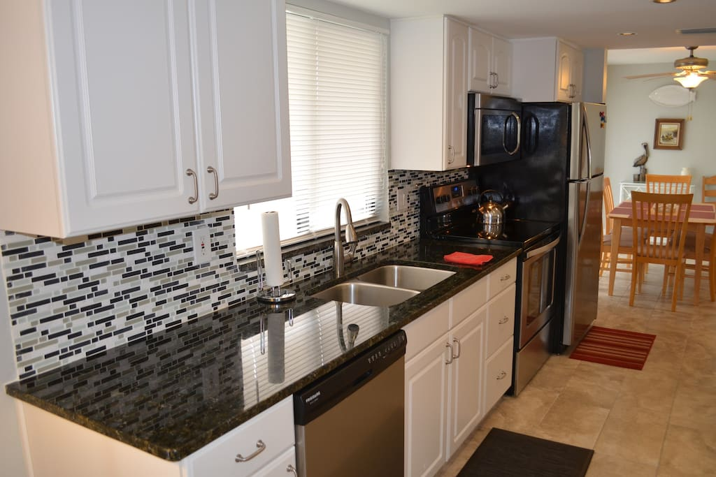 Recently remodeled Kitchen with granite counter tops