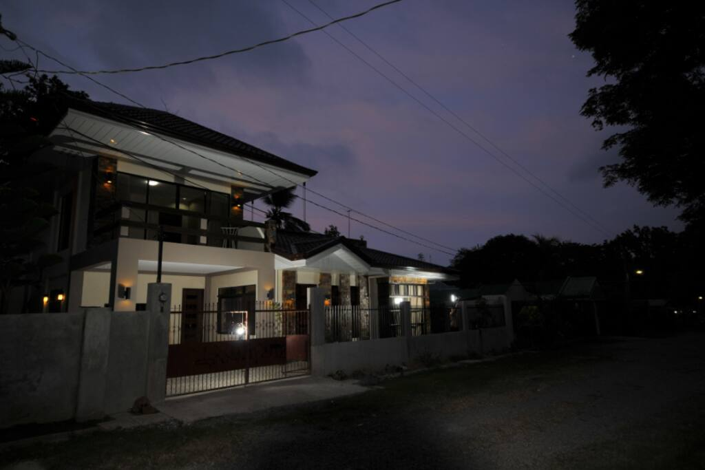 guest house at night