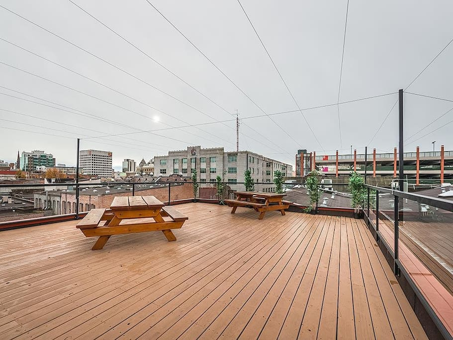 360 views from our rooftop patio!