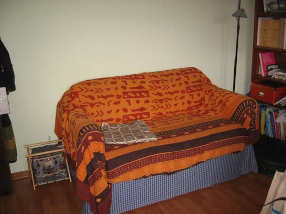 Sofa n.2 - cosy for one person, suitable for 2 people as well. Placed in an indipendent room