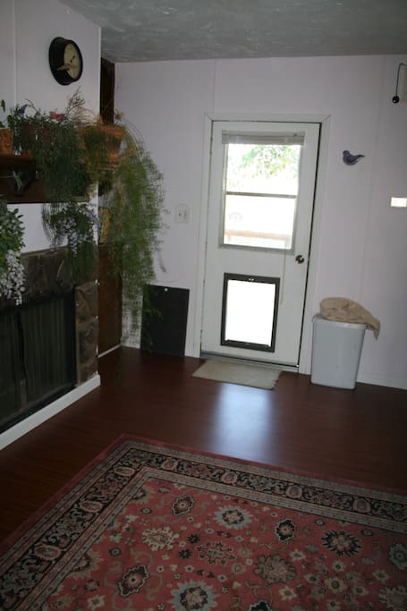 This is the guest entrance, with dog door.