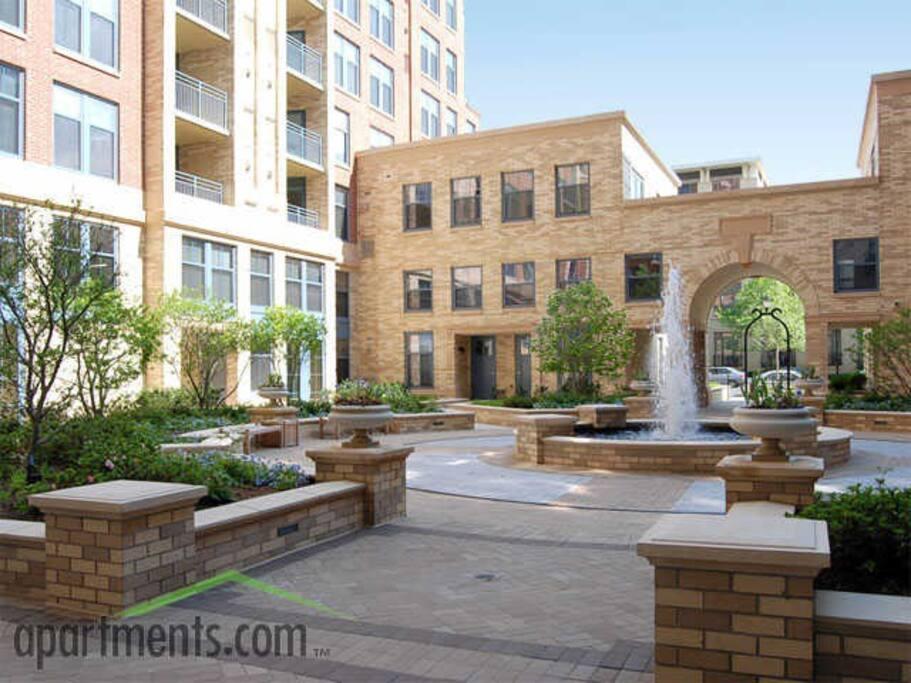 European Inspired Courtyard