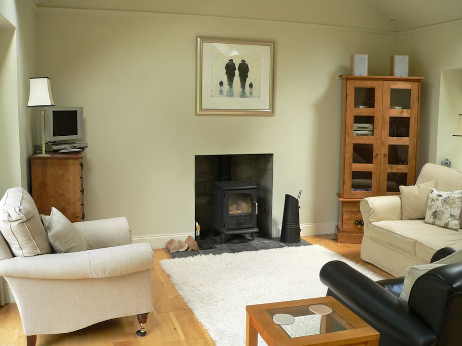 Wood burning stove to snuggle up to