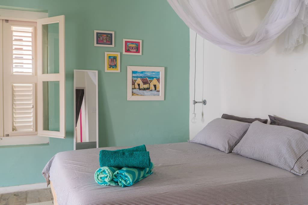 The main bedroom is located in the main area of the loft. The second bedroom is available for a little surcharge.