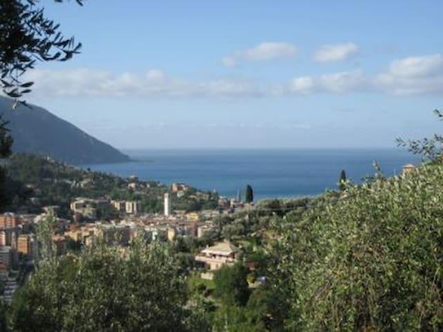 Liguria Levante Villa Pia piscina letti 12 (Ap.A)