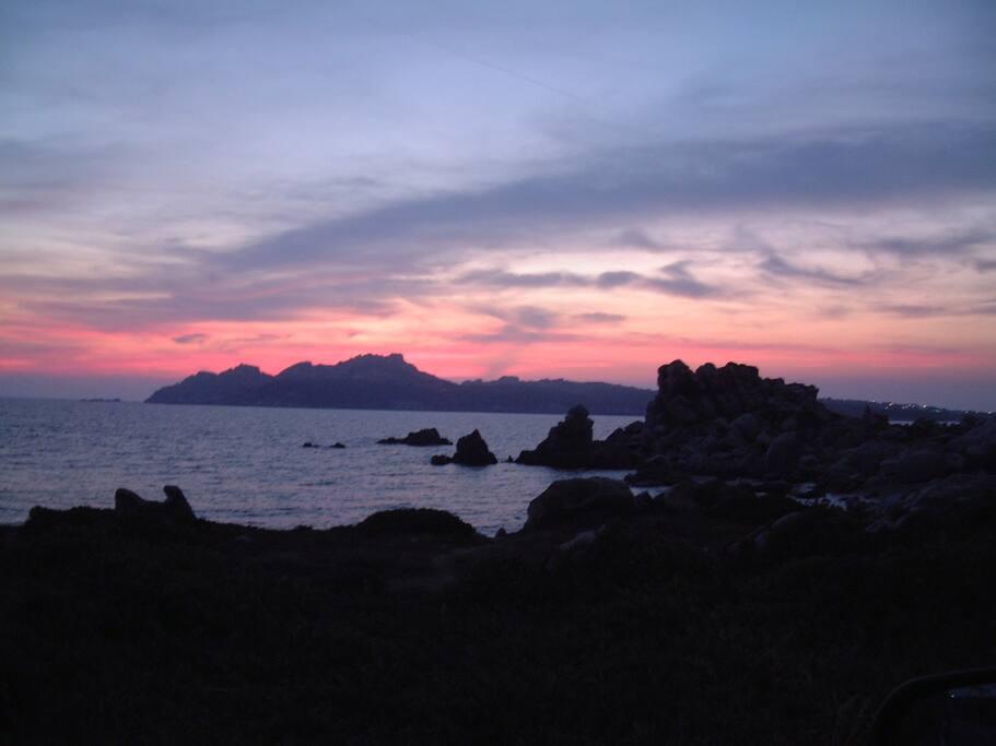baia al tramonto