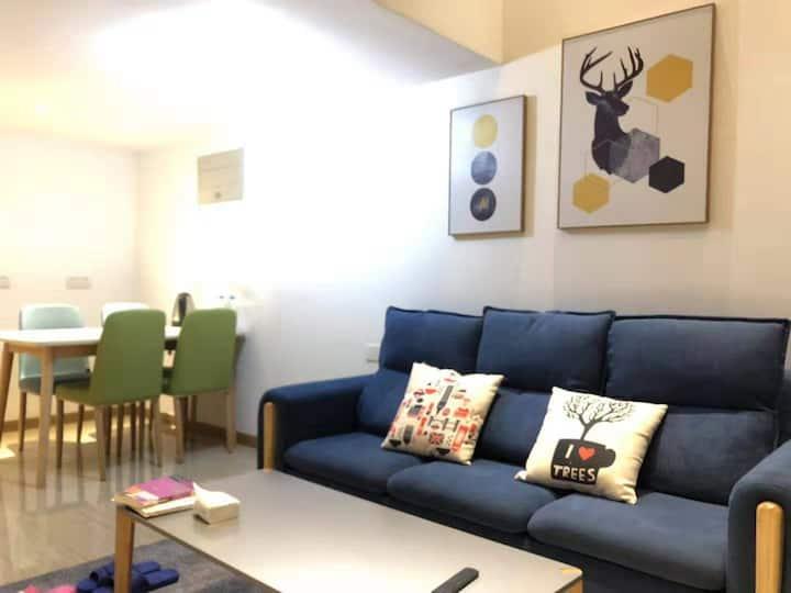 【水街一宿】精品复式公寓&南京南站/含自助早餐1
