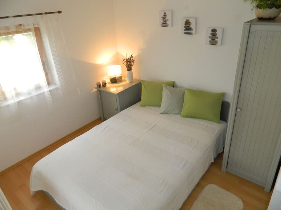 Romantic bedroom in quiet area