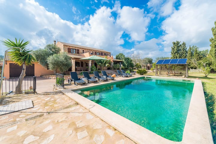 SON HOMAR DE DALT - Villa with private pool in Petra. Free WiFi