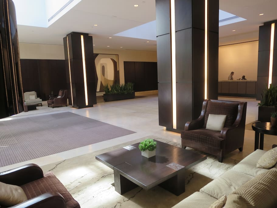 Elegant Lobby with Doormen