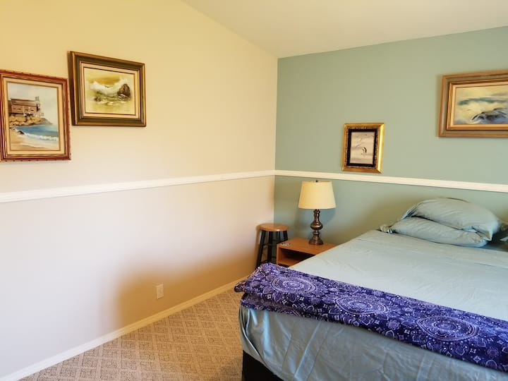 MASTER BEDROOM with King size Bed & Bath